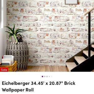 Texture Whitewashed Brick Wallpaper (3rolls)